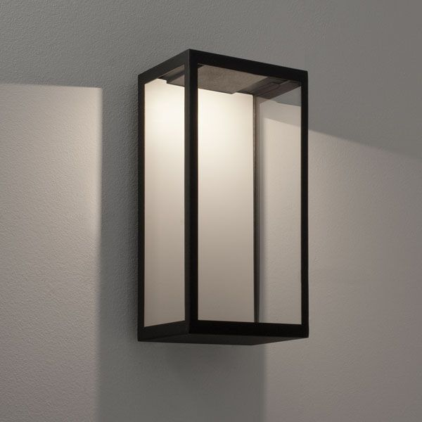 Puzzle Outdoor Wall LED Light in Black with Clear Glass 3W LED