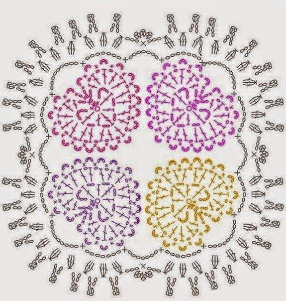 esquemas de ideas novedosas a crochet - Buscar con Google | esquemas ...
