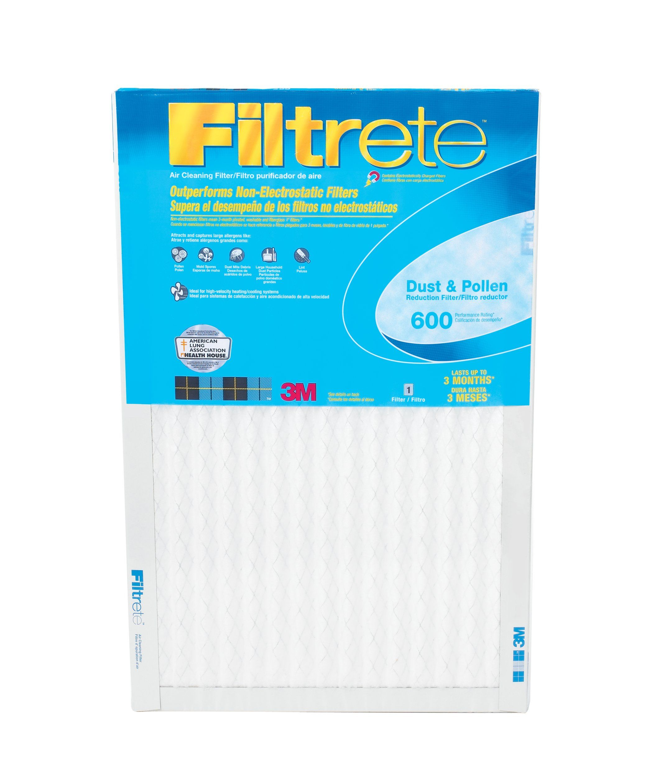 Filtrete Clean Living Dust Reduction Filters, 600 MPR, 16
