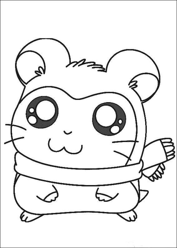 Hamtaro Coloring Pages 5 Cute Cartoon Drawings Hamtaro Cartoon Coloring Pages