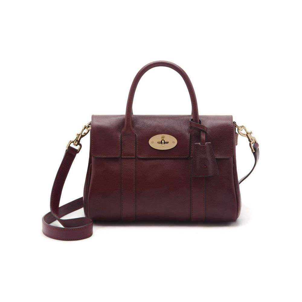 Mulberry Style Signatures - Small Bayswater Satchel in Oxblood Natural  Leather 7c62458de3139