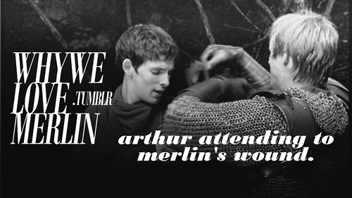 <3 That was the best he could do for Merlin in return for all the things that Merlin had done for him.