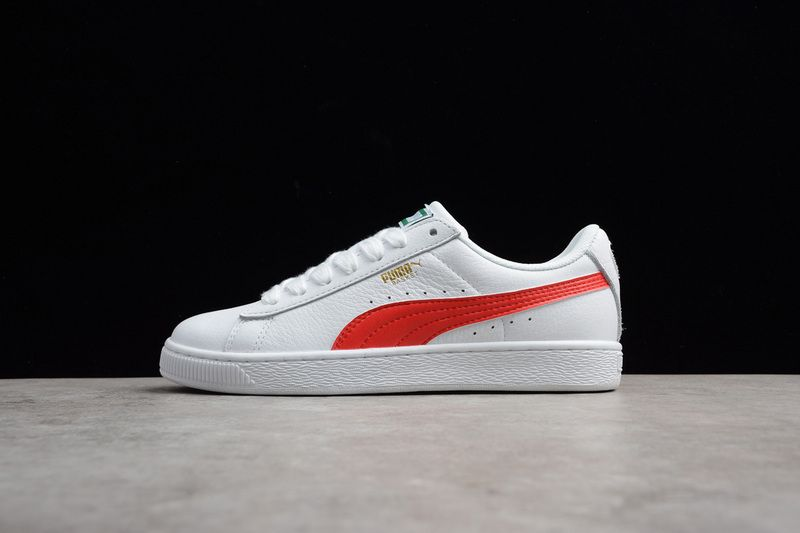 new style 7a71e dfc4f PUMA HERITAGE BASKET CLASSIC COLOR PUMA WHITE-FLAME SCARLET ...