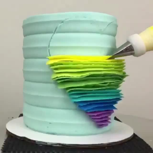 Pastel de arcoíris