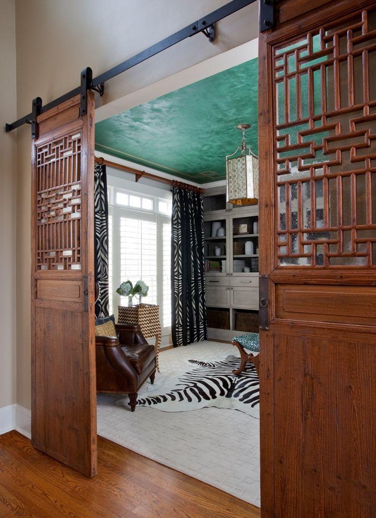 entryway office barn door. Alpharetta Home Office With Barn Door Entry - Jennifer Reynolds Interior Design Entryway O