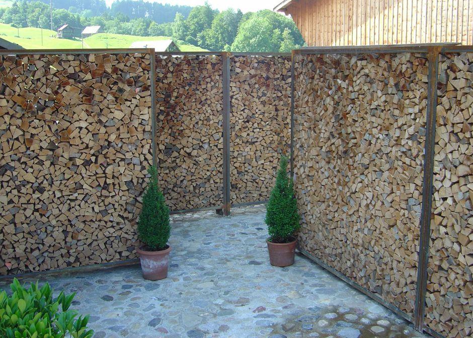 Sichtschutz Brennholz Sichtschutz Garten Holz Sichtschutz