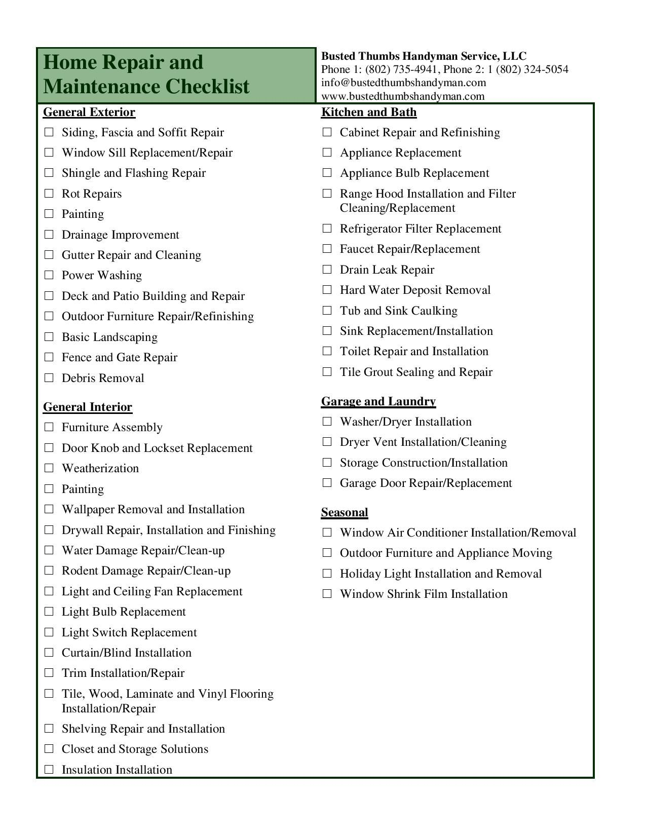 Home remodeling project checklist mlthree com for the for Construction finishing checklist