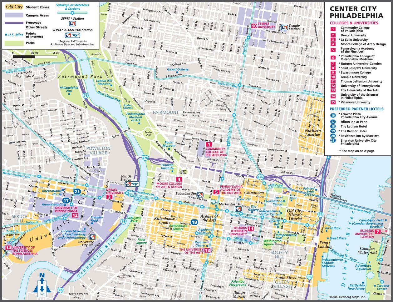 Philadelphia Tourist Map Philadelphia Mappery Philly - Philadelphia map