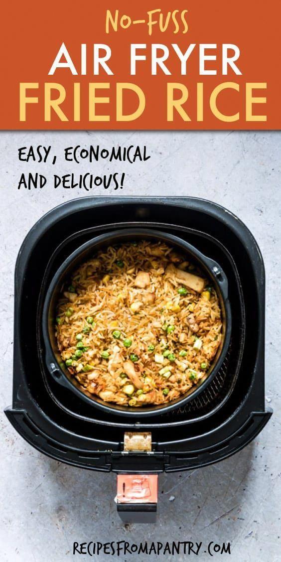 Air Fryer Chicken Fried Rice + Tutorial {Gluten Free}