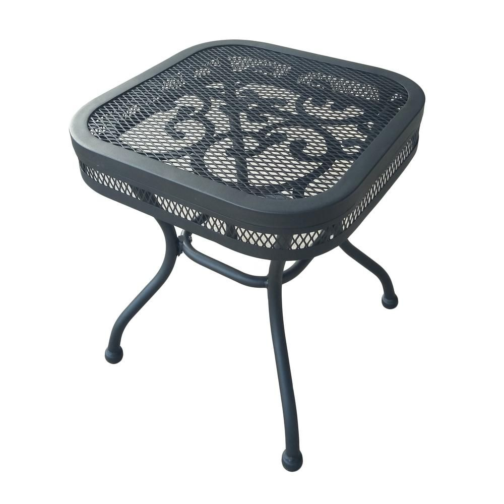 Hampton Bay Amelia Springs Square Outdoor Side Table-FG
