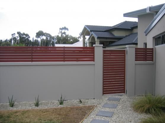 Fence Design Ideas Get Inspired By Photos Of Fences From Australian Designers Trade Professionals Australia Hi Fence Design Brick Fence Backyard Fences