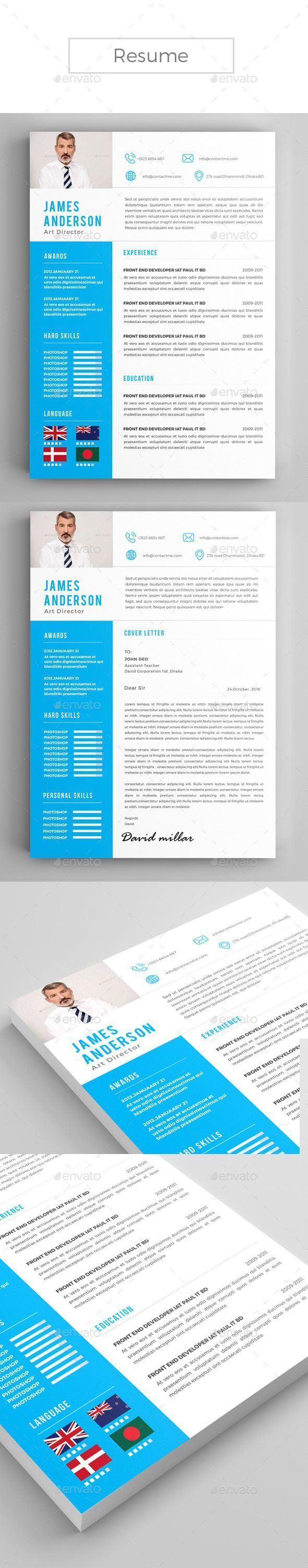 Resume Design Template Resumes Template PSD. Download…