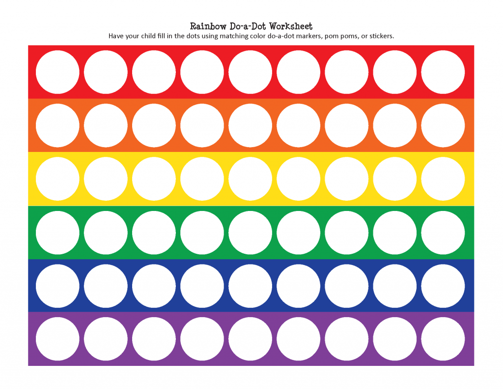 Rainbow Do A Dot Worksheet