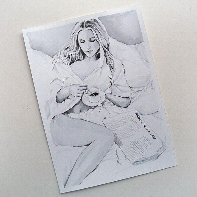 Рисовать в монохроме оказалось сплошным удовольствием, тем более такую красоту)