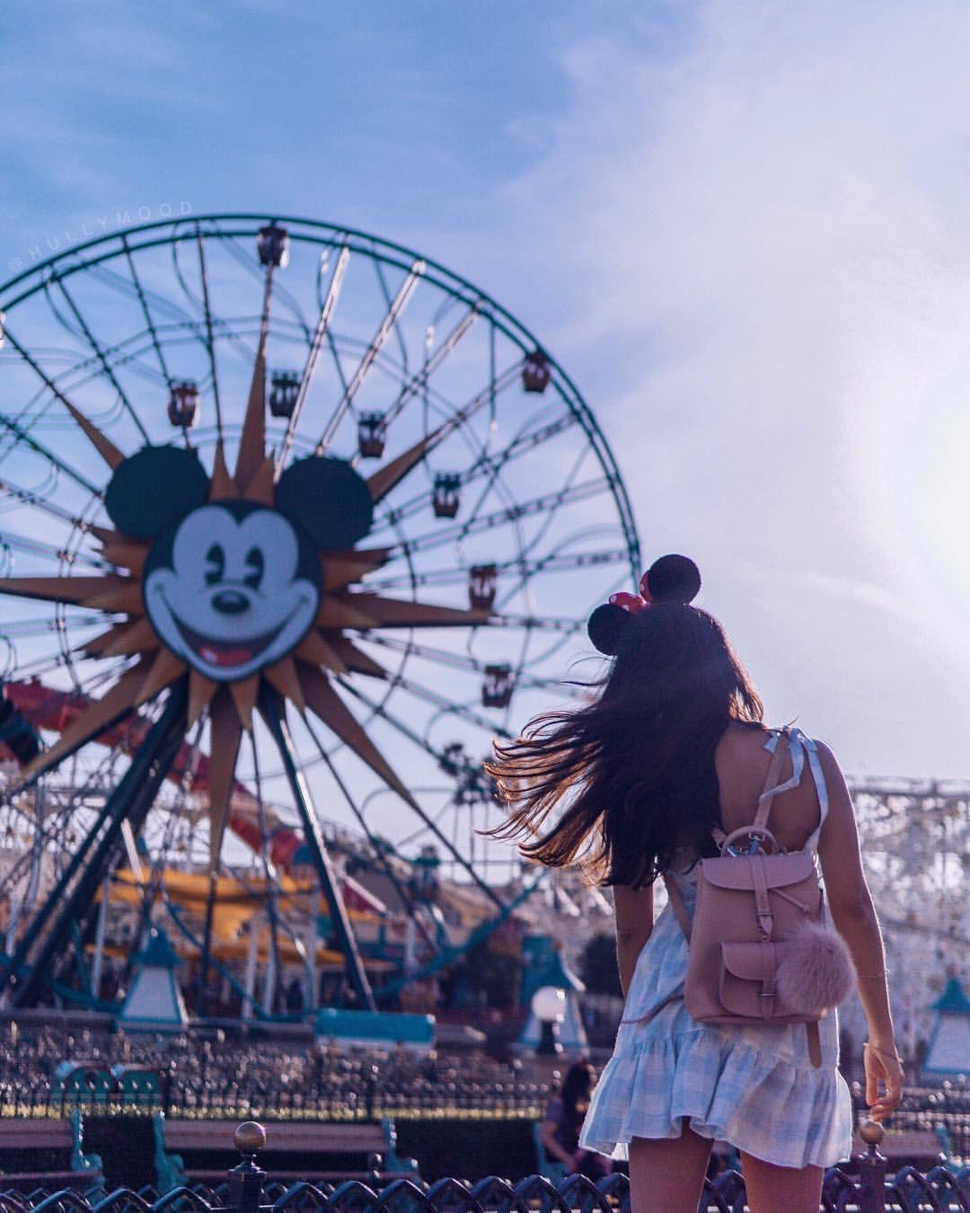 Disneyland Ist Immer Eine Reise Wert Das Riesenrad In Kalifornien Finde Ich So Sweet Disneyland Disneylandresort Disney Di Disney Cartoon Walt Disney