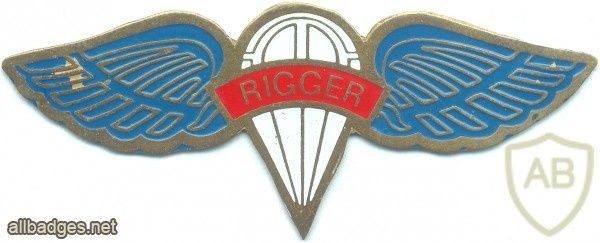 Colombia Parachute Rigger Wings Riggers Paratrooper Insignia