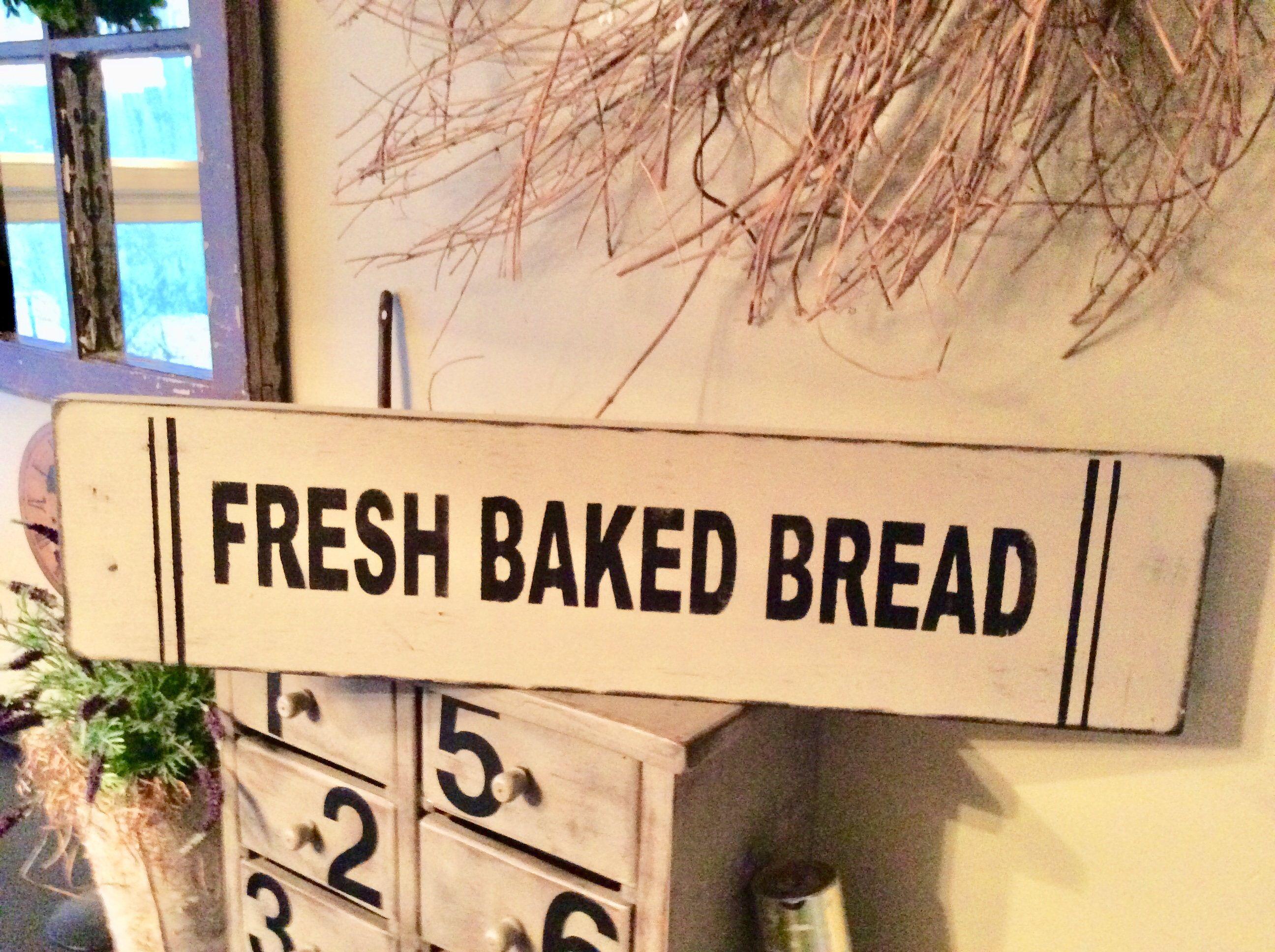 Street Sign Home Decor Prepossessing Fresh Baked Bread Sign Bakery Sign Kitchen Sign Bakery Bread Decorating Inspiration
