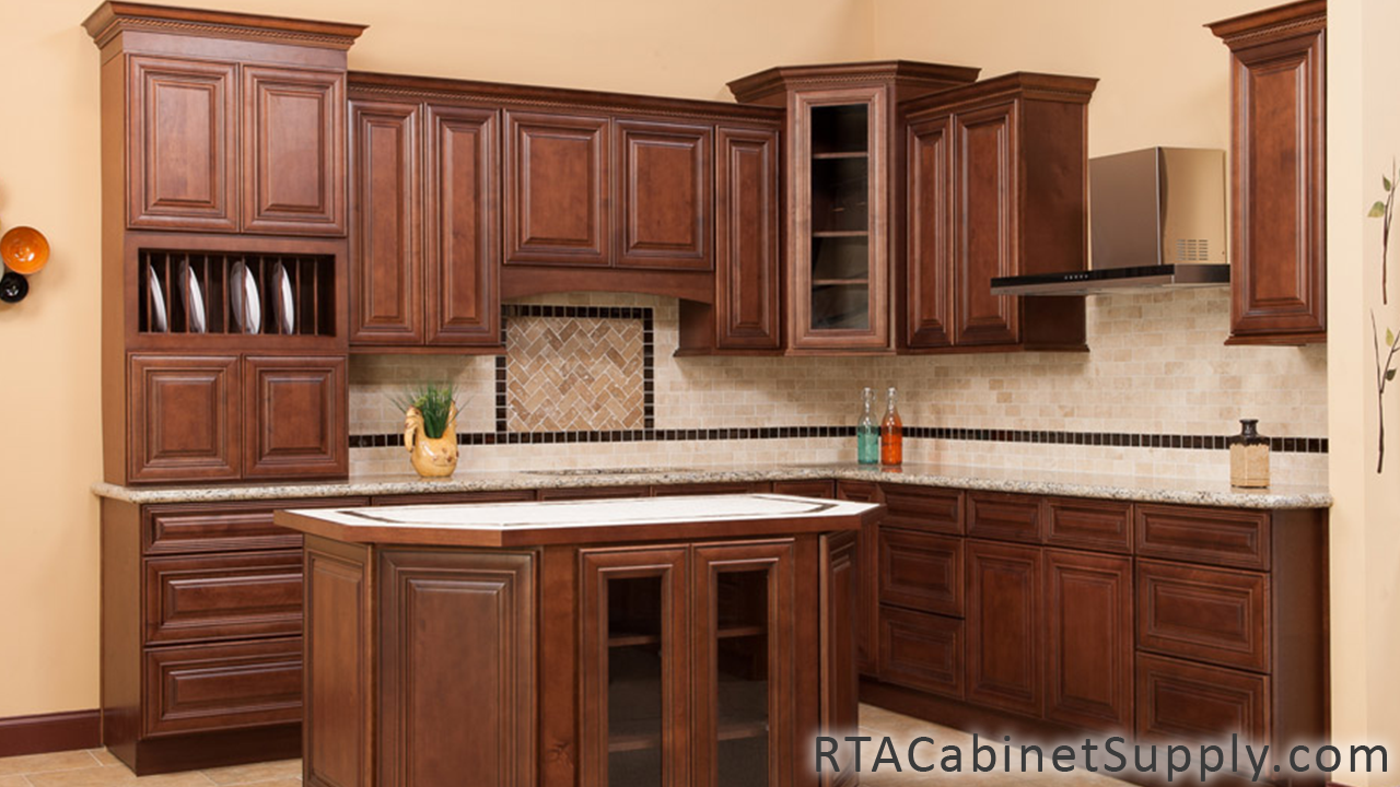 Charleston Cappuccino Ready To Assemble Cabinets Color Chocolate With Dark Glaze Finish Uv Cheap Kitchen Cabinets Kitchen Design Gallery Kitchen Cabinets