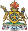 The Coat of Arms of Sister City Hamilton, Ontario, Canada