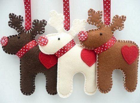 Adornos De Navidad Con Fieltro Fotos Manualidades X Mas - Manualidades-de-adornos-navideos
