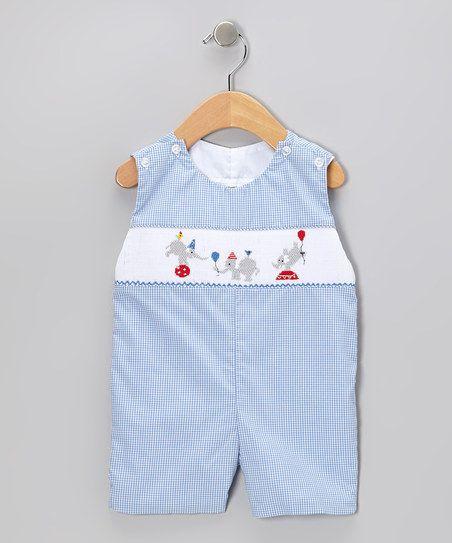 Sweet Teas Blue Gingham John Johns - Infant & Toddler