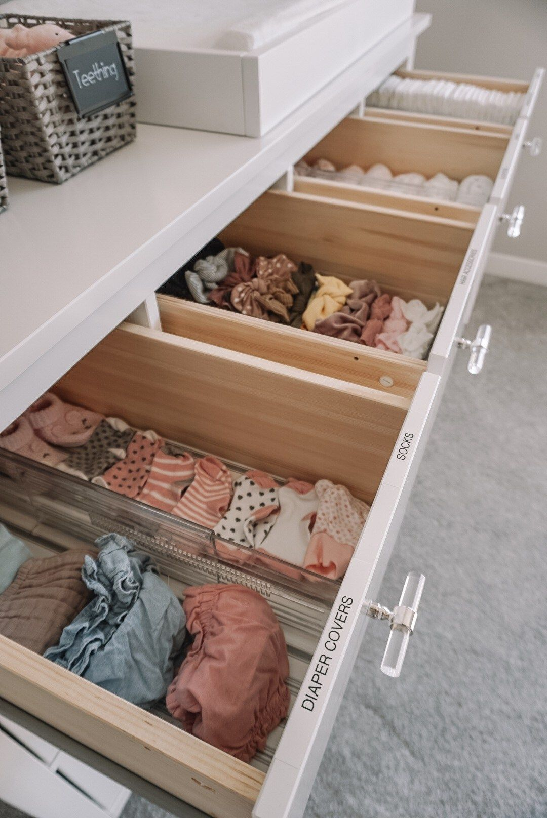 Blair's Closet and Organization Reveal #nurseryideas