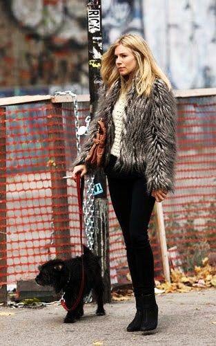 Street style - Sienna Miller