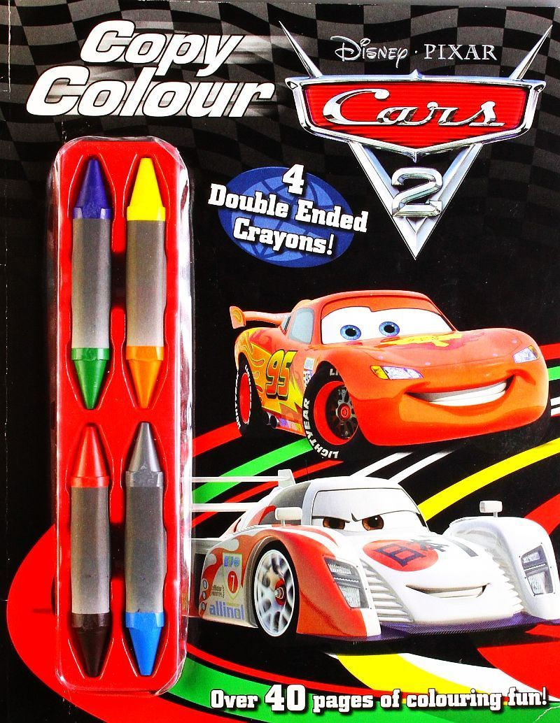 Disney pixarinfinity cars copy colour book with four dual