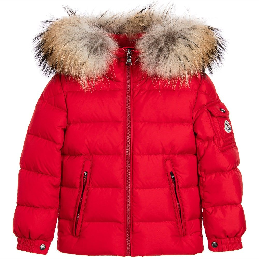 Moncler Boys Red Down Padded 'Byron' Puffer Jacket at http://www ...