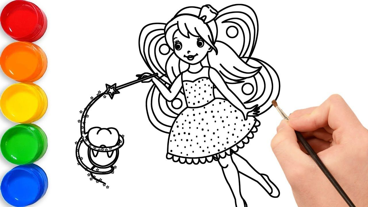 Fairy drawing and coloring book for kids Toy Art Fun