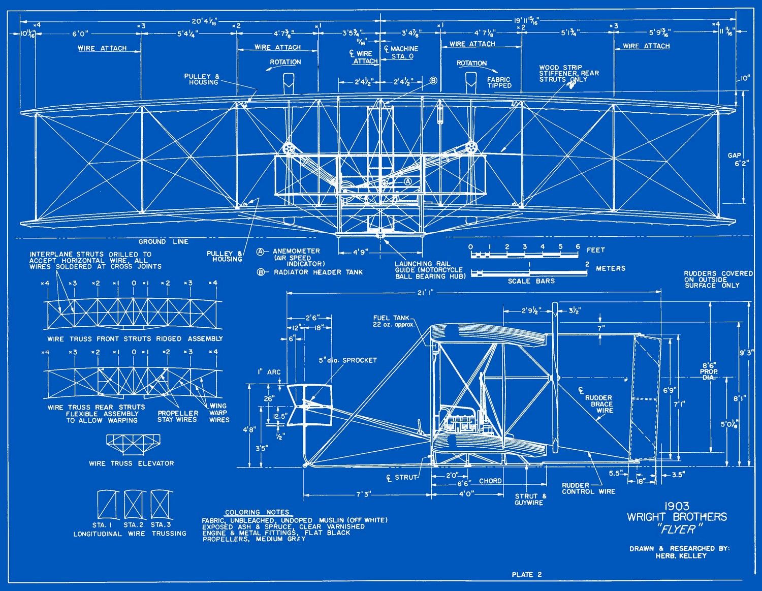 1903 Wright Flyer Blueprints - Free Download | Modellbau und Ideen