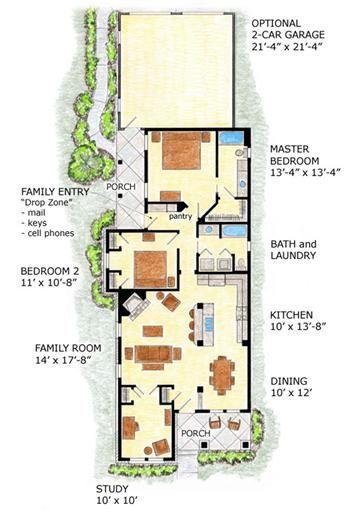 planos de casas pequenas y angostas
