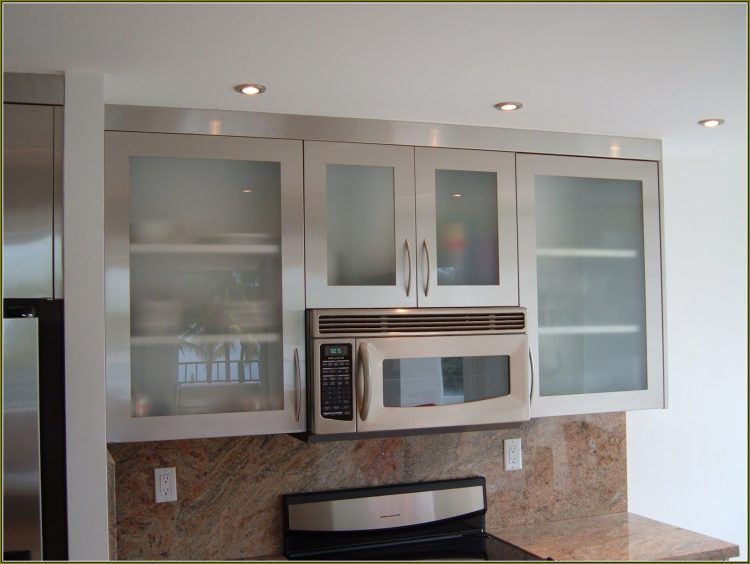 Clic Style Cabinets With Gl Door Stainless Steel Kitchen