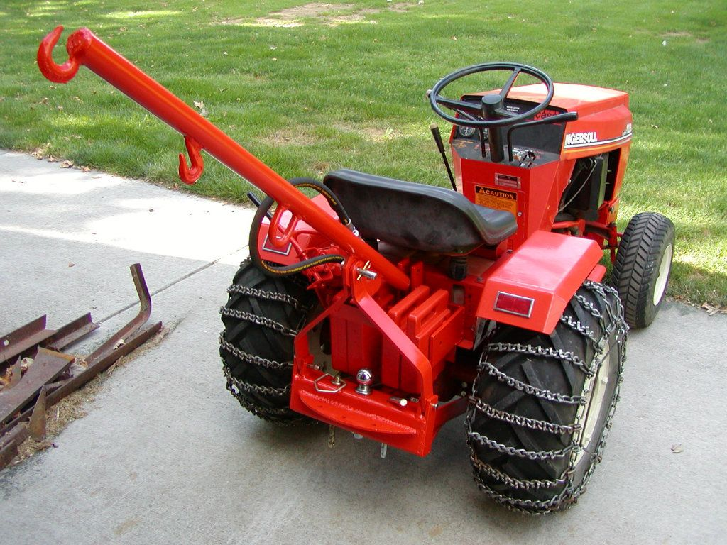 Show home build gas powered mini tractors - Tractor Accessories Boom Homemade Tractor Accessories Boom Constructed From Steel Plate Tubing Hooks And Flat Bar Stock