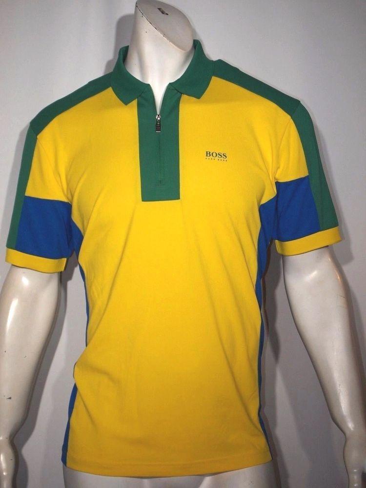 02e526fca Hugo Boss men's Brasil flag colors polo shirt size xl NWT short sleeve # HugoBoss #Polo