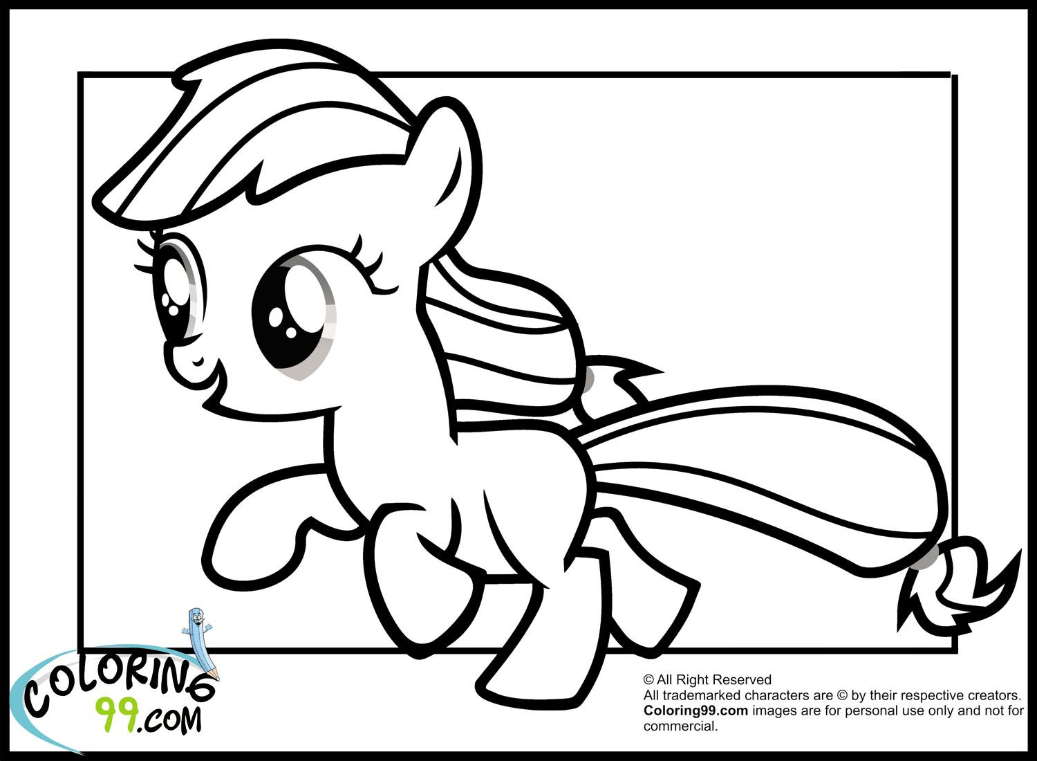 My Little Pony Applejack Coloring Pages Team Colors