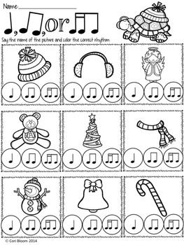 FREE Winter Speech Rhythm Printable Worksheets (With