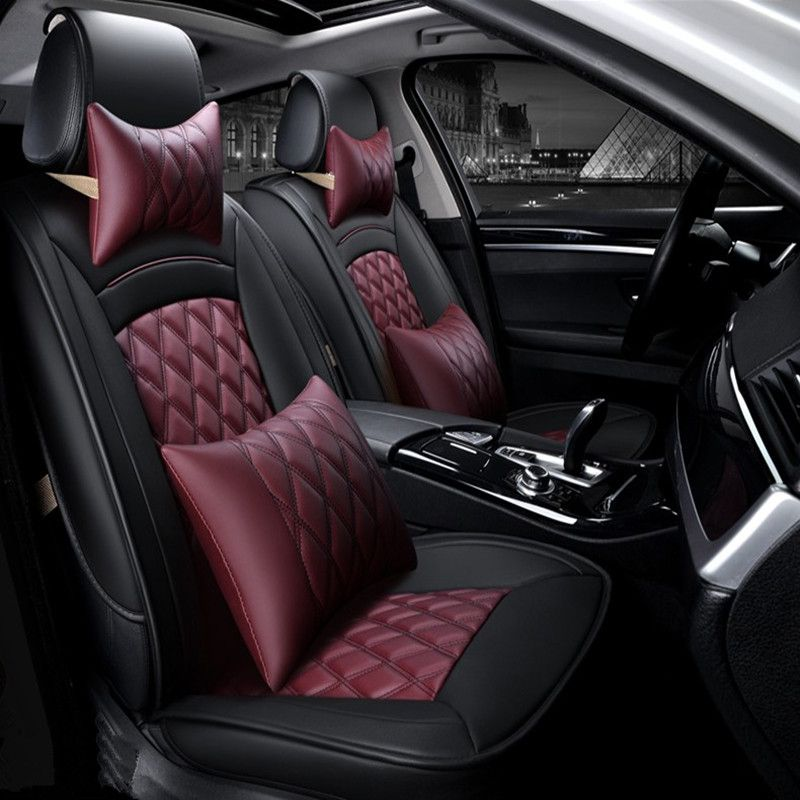 3D Sports Car Seat Cover Cushion High-grade leather Car ...