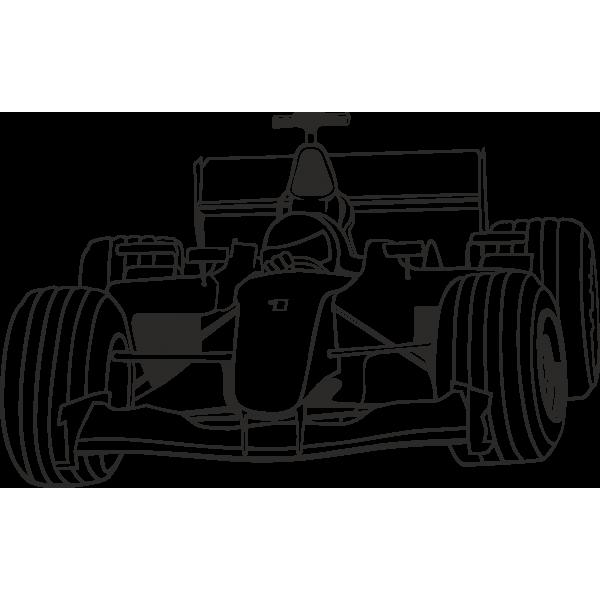 Sticker autocollant Formule 1   Formule 1, Coloriage, Dessin voiture de course