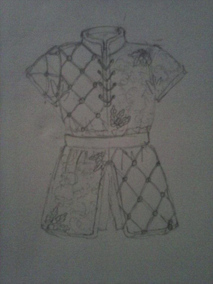 Arming jacket design -  By Sarah Newbould