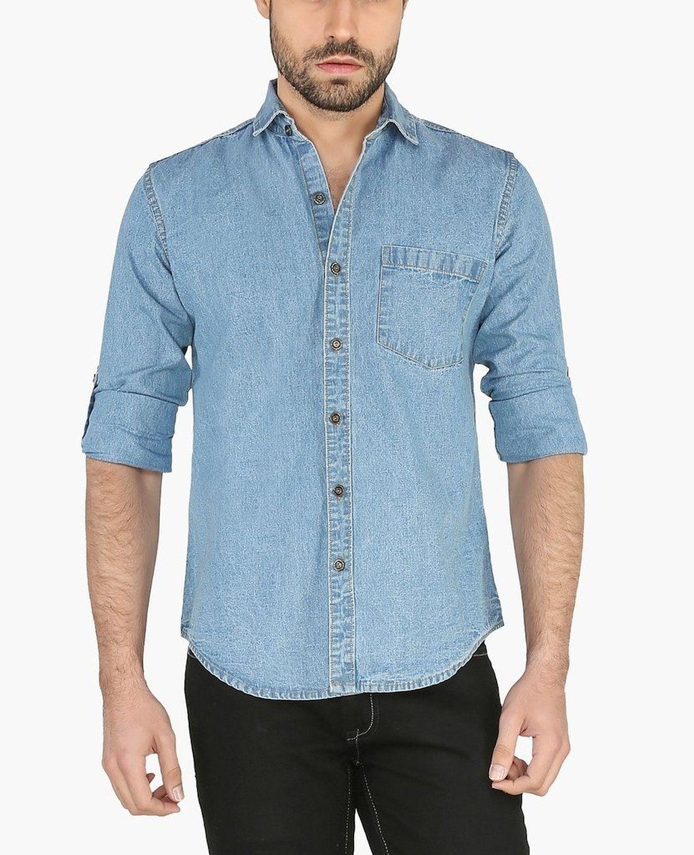 Clothing Brands: Nick&Jess Mens Slim Fit Long Sleeve Light Blue ...