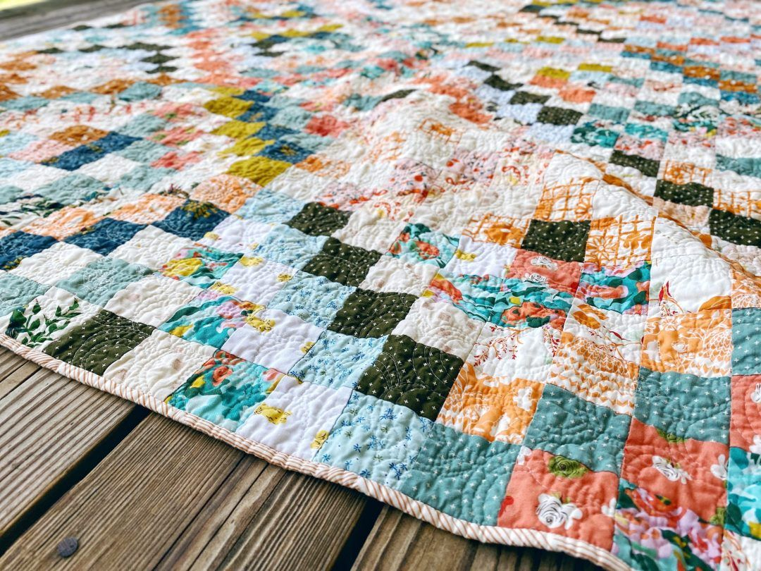 Quilt Reveal Trippy Quilt 4 Green And Orange And A Hint Of Silver In 2020 Quilts Scrappy Quilt Patterns Quilt Making