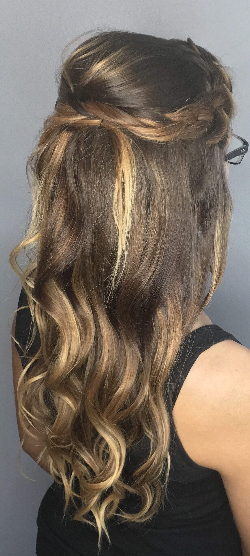 A Bella Bombshell- half up half down prom hair, prom hair ...