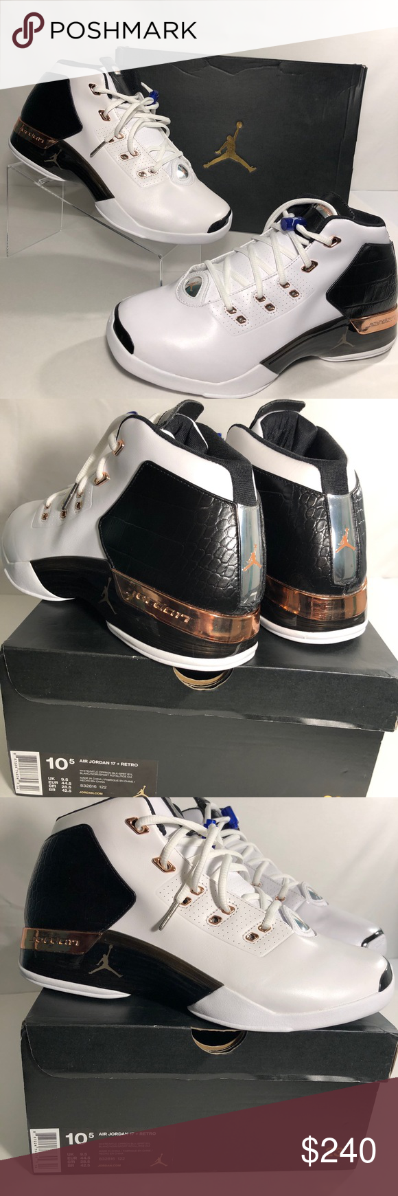 fd0c0798758 NIKE AIR JORDAN 17 XVII RETRO COPPER Size 10.5 (DS) NIKE AIR JORDAN ...