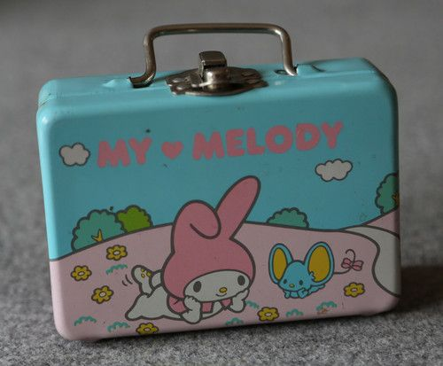 Vintage My Melody Japanese Hello Kitty Sanrio 1976 Small Metallic Box   eBay 11b89aee03