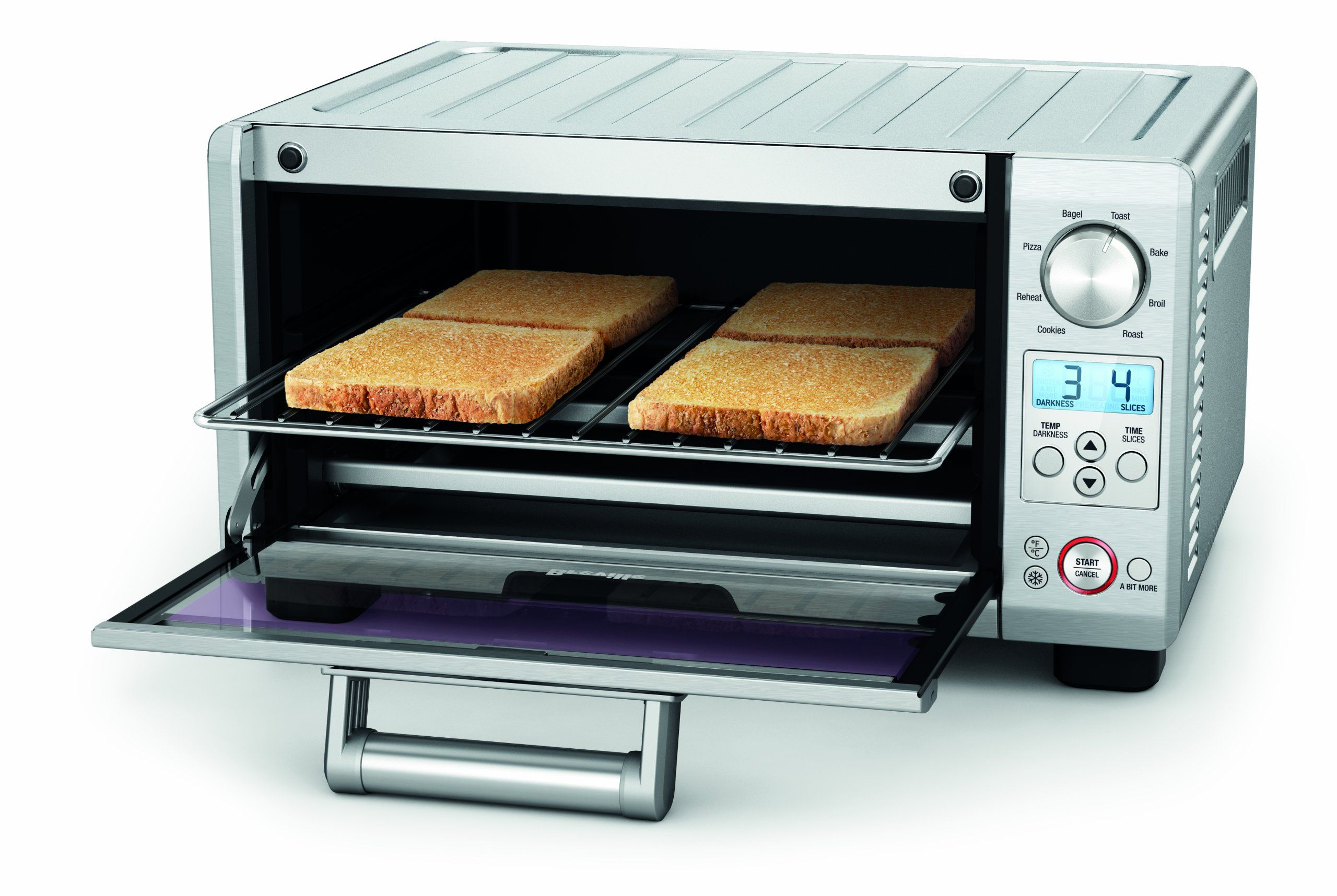 Amazon Com Breville Bov450xl Mini Smart Oven With Element Iq Countertop Ovens Kitchen Dining Smart Oven Healthy Filling Snacks Toaster Oven