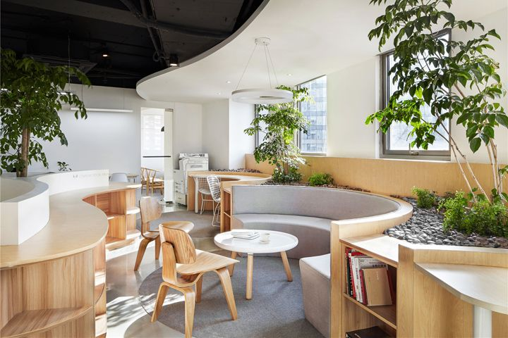 For the interior space the designers have designed a peaceful and