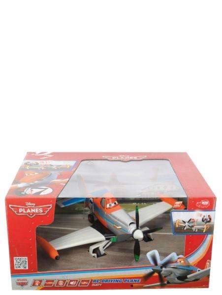 Radio-ohjattava Dusty ajaa maata pitkin ja kaartelee käännöksissä. Konetta voi ohjata eteen ja taakse sekä oikealle ja vasemmalle. Koneella on pyörivä potkuri, turbotoiminto, bodydrift ja aidot lentoäänet! Pituus 25 cm.