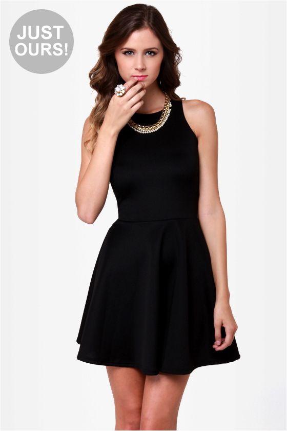dded681fc4 Cute Racer Back Dress - Little Black Dress - Skater Dress -  38.00