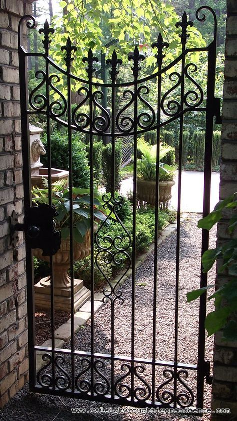 Incroyable Ornamental Garden Gates Design | ... Fence Co. Custom Wrought Iron Gates In  Raleigh NC, Durham, Chapel Hill